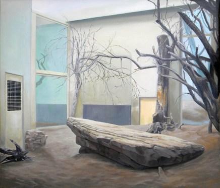 Marco Pace, Savana, 2015, olio su tela, 88x79 cm
