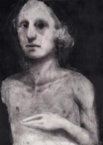 Piero Roccasalvo, Rub Cerere, 2013, olio su carta, 72x102 cm