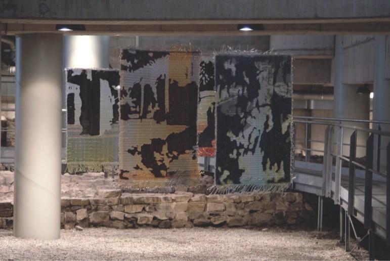 Robert Gschwantner, The reflected exagon, installazione, PVC, glicerina, acqua del Lago di Traiano
