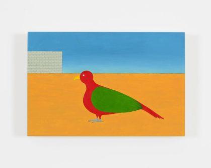 Rodrigo Hernandez, Conflict over coherence, 2015, olio su tavola, 20x35 cm Foto Michele Alberto Sereni