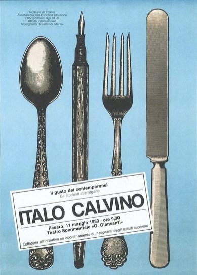 Massimo Dolcini, Il gusto dei contemporanei. Gli studenti interrogano Italo Calvino, 1983, offset