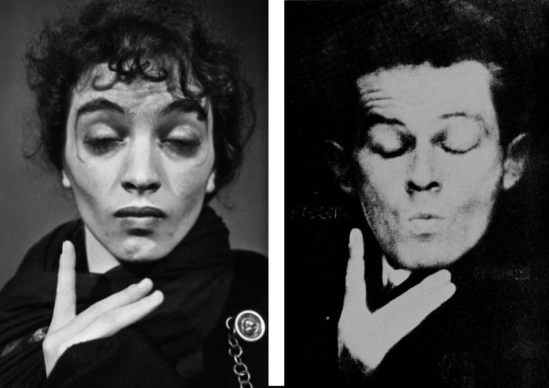 Claudia Contin Arlecchino 1987 e Egon Schiele 1914 Credit: Ferruccio Merisi 1987 e Anton Joseph Trcka 1914