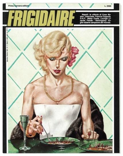 "Copertina della rivista ""Frigidaire"", ottobre 1981"