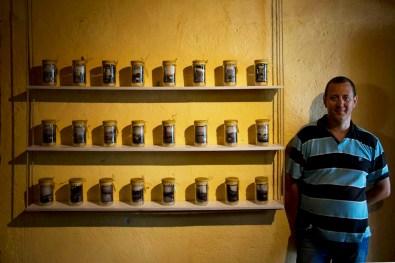 Confettura dal Lago di Garda. Mostra di Pierluigi Cottarelli, veduta della mostra con Pierluigi Cottarelli, Isola Borghese, San Felice del Benaco (BS)