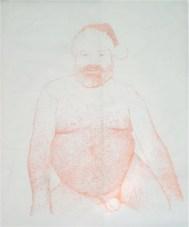 Stefano Arienti, Babbo Natale, 2001, acrilico su mylar, cm 110x80, Courtesy Analix Forever, Ginevra