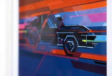 No Curves, K.I.T.T 1982, opera ispirata alla serie Supercar Credits Andrea Ucchino – Grauen Studio
