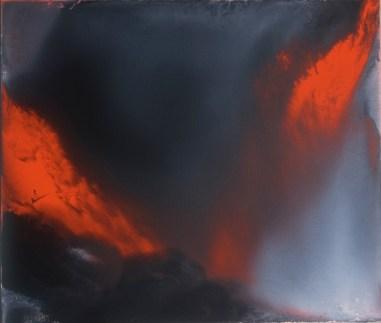 Vasco Bendini, Dalla serie L'immagine accolta, 2006, olio su tela, 59x69 cm Courtesy La Giarina, Verona