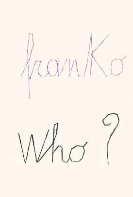 Franko B, Art education, 2015, lana e cotone cuciti su carta
