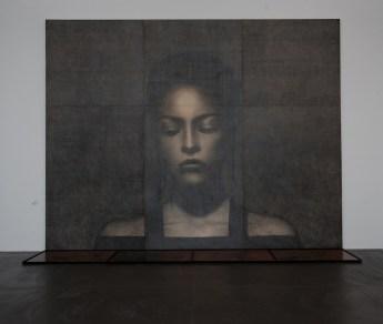 Omar Galliani, Grande disegno italiano, 2005, matita su tavola, 550x650 cm © Luca Trascinelli