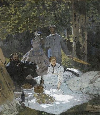 Claude Monet, Le déjeuner sur l'herbe, 1865-66, olio su tela, 248.7x218 cm; inv. RF 1987 12 9.(id 2) Monet 9. Paris, Musée d'Orsay © RMN-Grand Palais (Musée d'Orsay) / Benoît Touchard
