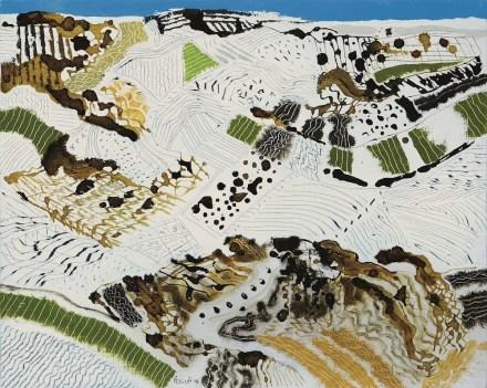 Tullio Pericoli, Senza titolo, 2014, olio e inchiostro su tela, 40x50 cm