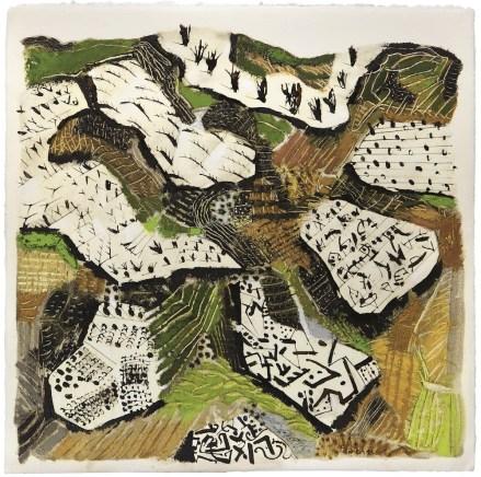 Tullio Pericoli, Sopravena, 2014, olio e inchiostro su cartone, 60x60 cm