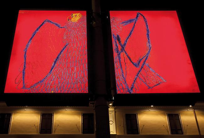 29_MG_Atelier dell'Errore e Luca Santiago Mora, 4x7x12_EST (2013), installazione luminosa realizzata in occasione dell'inaugurazione del MAIMuseo di Sospiro (CR)_4
