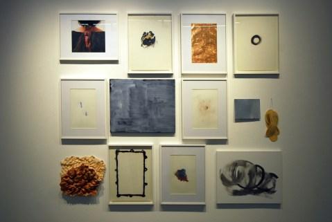 Veduta dei manufatti realizzati durante il laboratorio tenuto dall'artista (23-25 ottobre 2015)