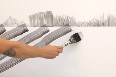 2501. Negative Space, dettaglio del work in progress, Maurizio Caldirola Arte Contemporanea, Monza © BlindEyeFactory