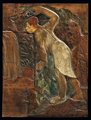 Paul Gauguin, Pape Moe (Acqua misteriosa), 1894, legno di quercia dipinto, 81.5×62 cm, Copenhagen, Ny Carlsberg Glyptotek