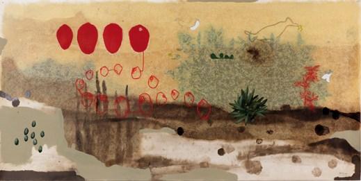 Mirko Baricchi, Humus nr.19, tecnica mista su cartoncino, 150 x 300