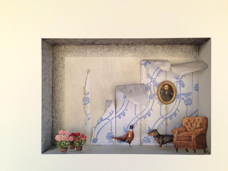 Vanni Cuoghi, Monolocale 39-Dialogo-muto-acquerello-e-china-su-carta-cm35x50-copia