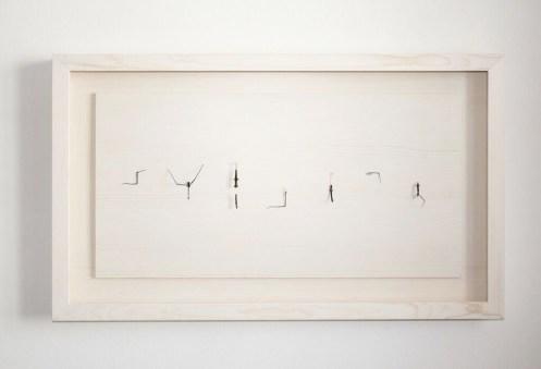 Christian Fogarolli, Instead of God, 2015, legno, insetti, metallo, 60x80x8 cm