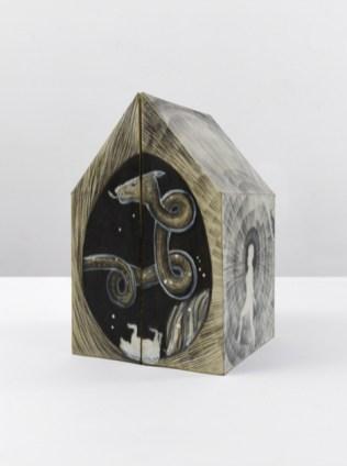 Sandra Vasquez de la Horra, Draco, 2015, graphite on paper, wax, 39x25x12.5 cm (2 partes)