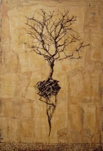 Hyena, albero, 2009, 130x90