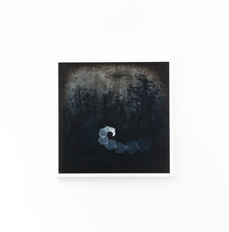 Thomas Scalco, Monochrono, Tecnica mista su tela, 70x70 cm, 2015