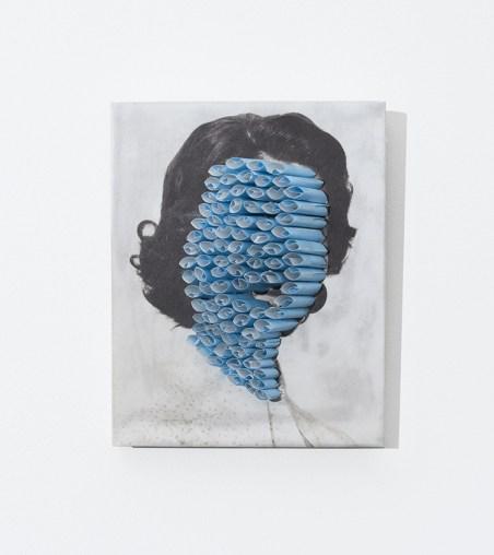 Affordable Art Fair 2016 - Davide Genna, Il bacio dell'amante, 2016, filtri di carta su carta intavolata, cm 13 x 17