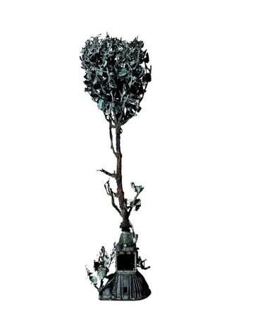 Alik Cavaliere, Albero cambio, 1987, bronzo, alluminio, acciaio 206x73x57 cm