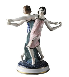 Anton Buschelberger, Ballerine di Charleston, XX secolo, porcellana, Germania
