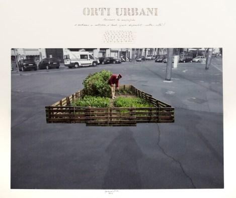 Ugo La Pietra, Verde Numero Tre, Orti Urbani (particolare) Courtesy l'Artista e Galleria Bianconi