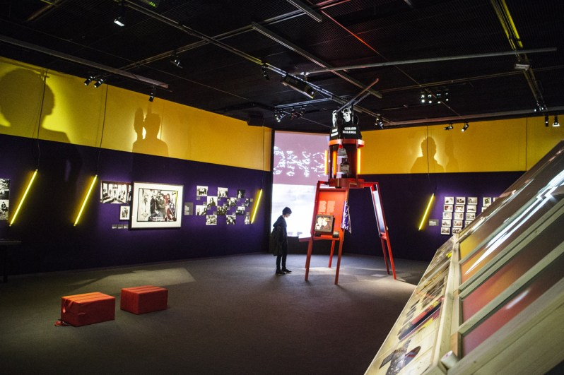 The Velvet Underground – New York Extravaganza, Philharmonie de Paris, veduta della mostra, exhibition design di Matali Crasset