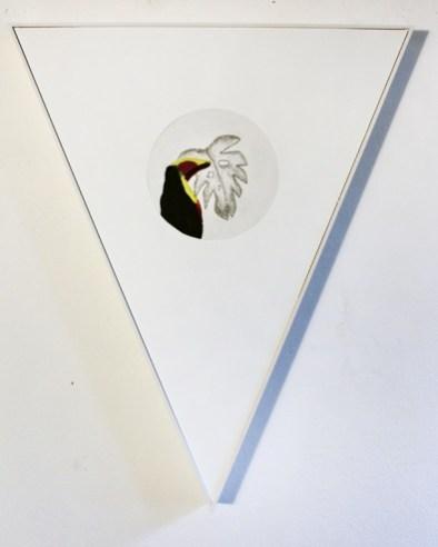 Federica Giulianini, Eolo, 2016, tecnica mista su tela e carta