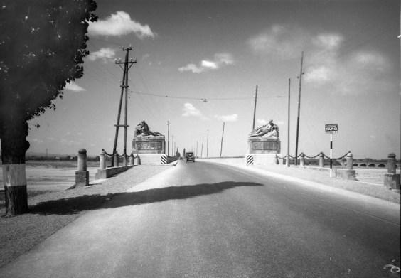 Documentazione ANAS ante 1949, la Via Emilia a Ponte Taro (PR), Atelier Vasari Roma, Ponte Taro (PR), 1948-49, negativo 13x18 cm Courtesy CSAC Università di Parma / Sezione Fotografia
