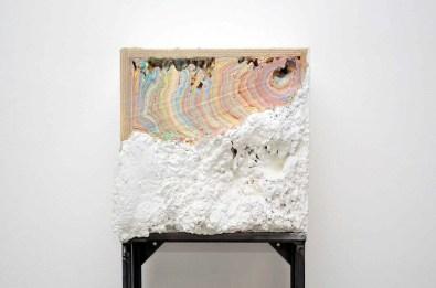 Diego Soldà, Archivio, 2014, tempera a strati su legno, 140x29x11 cm