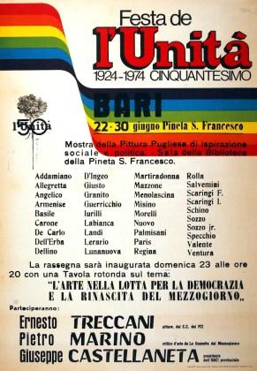 Ernesto Treccani, Festa de L'Unità 1924-1974 Cinquantesimo, Bari, 1984