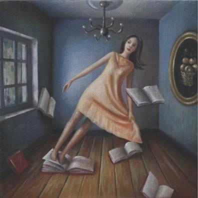 Ilaria Del Monte, La Profezia, 2016, olio su tela, 15x15 cm