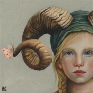 Claudia Giraudo, Fauno : Souvenir I, 2016, olio su tela, 20x20 cm
