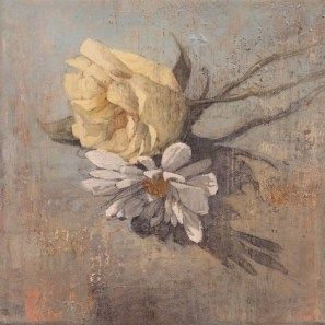 Federico Infante, Study of flowers, 2016, acrilico su tela, 20x 20 cm