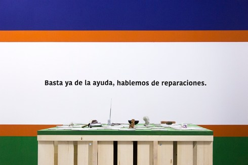 Beto Shwafaty, Hablemos de reparaciones, installation view Courtesy dell'artista e Prometeogallery di Ida Pisani
