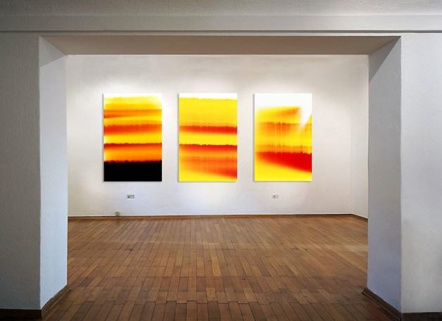 Origini. Gli Orizzonti nell'Idea di Luce di Silvio Wolf, veduta della mostra, Fondazione Antonio e Carmela Calderara, Vacciago di Ameno (NO)