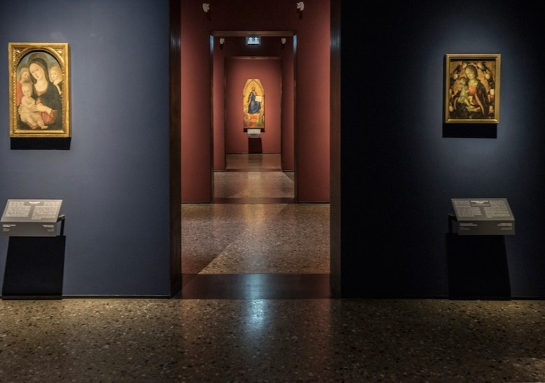 Il nuovo allestimento della Pinacoteca di Brera: Veduta dalla Sala 2 alla Sala 5 © James O'Mara