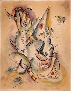 Vasilij Kandinskij, Untitled, 1917, acquerello e inchiostro di china su carta, 32.2x25.2 cm, Collezione Olgiati, Lugano