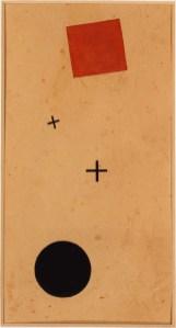 Kazimir Malevic, Suprematism, 1916, gouache su carta, 27x14.3 cm, Collezione Olgiati, Lugano
