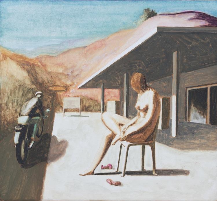 Ettore Tripodi, Storie 2, 2016, tempera su tavola, 26x24 cm Courtesy Studio d'Arte Cannaviello, Milano