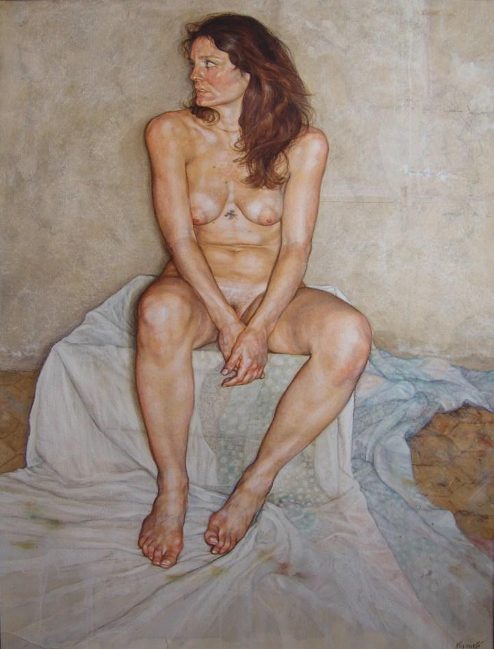 R. Mannelli_Blues Della Controracm. 70x100, tecnica mista su carta, 2010