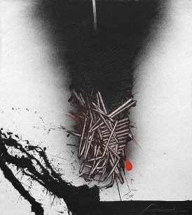 Scanavino Emilio, tramatura, tecnica mista su tavola, cm. 46x51