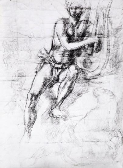 Corrado Cagli, Orfeo incanta le belve, 1938, carboncino su carat, Roma, collezione privata