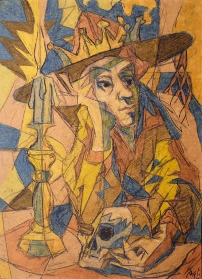 Corrado Cagli, Concertino, 1940, tecnica mista su carta, Roma, collezione privata