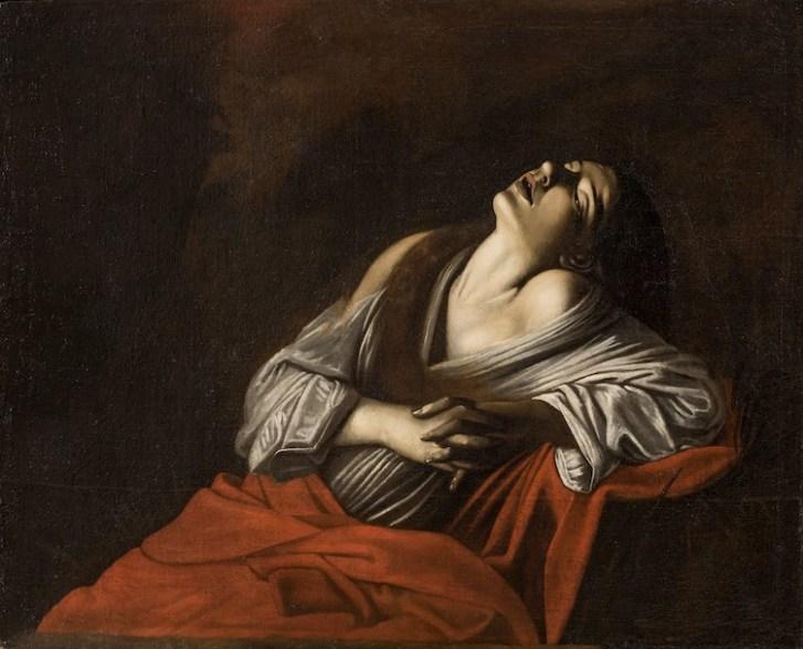 Caravaggio (copia da), Maddalena in estasi, dopo il 1610, olio su tela, 100x123.5 cm, Collezione Paolo Volponi