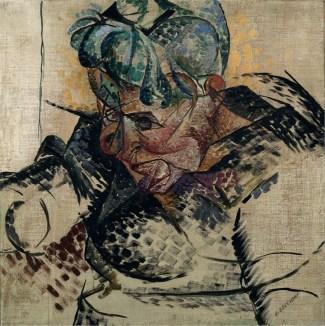 Umberto Boccioni, Studio di testa - La madre (Dimensioni astratte), 1912, Milano, Museo del Novecento